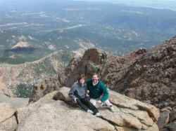 Another shot of us on top of Pikes Peak