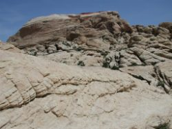 The rock then turns to white sandstone