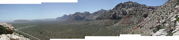 Looking south into the desert valley